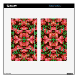 Floral Collage Pattern Kindle Fire Skin
