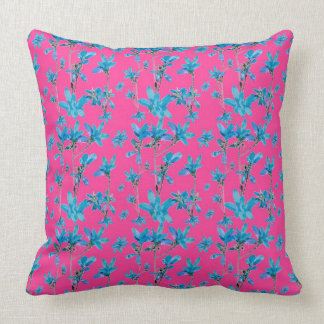 Floral Collage Revival Throw Pillow