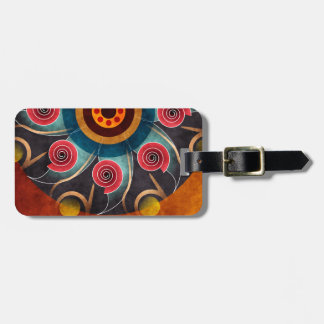 Floral Color Abstract Vector Art Bag Tag