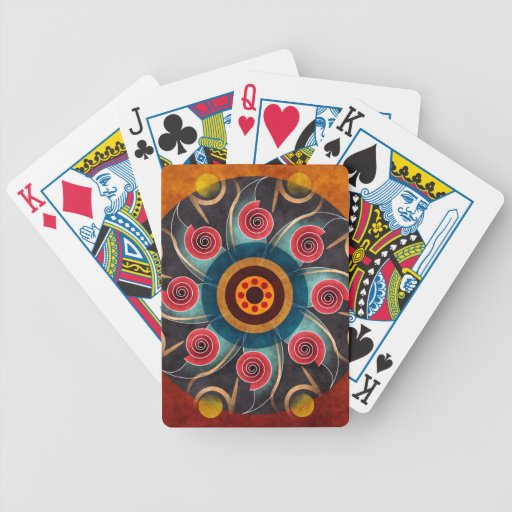 Floral Color Abstract Vector Art Bicycle Playing Cards