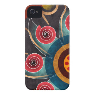 Floral Color Abstract Vector Art BlackBerry Bold iPhone 4 Cases