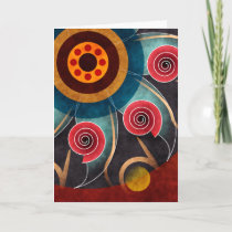 Floral Color Abstract Vector Art Greeting Card