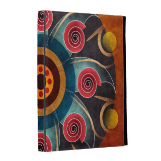 Floral Color Abstract Vector Art iPad Case