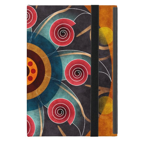 Floral Color Abstract Vector Art iPad Mini Cover