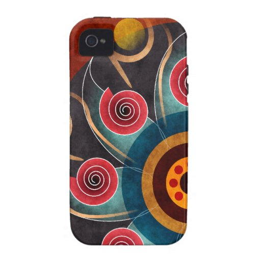 Floral Color Abstract Vector Art iPhone 4 Vibe Case-Mate iPhone 4 Cover