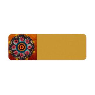 Floral Color Abstract Vector Art Return Address Label