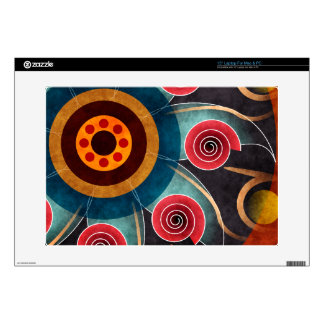 Floral Color Abstract Vector Art Laptop Skin