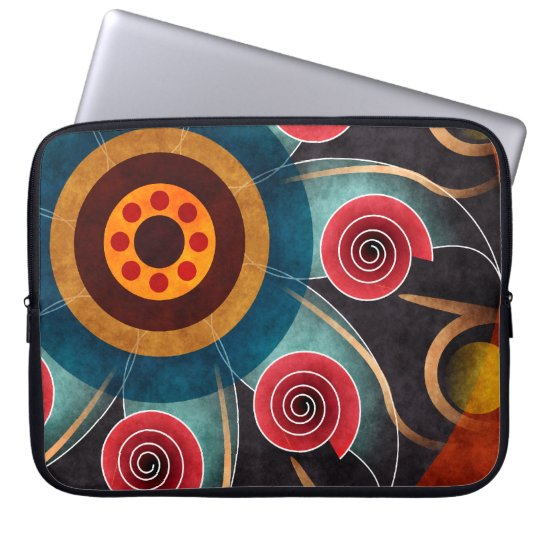Floral Color Abstract Vector Art Laptop Sleeve