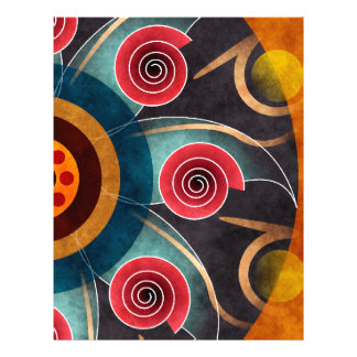 Floral Color Abstract Vector Art Letterhead