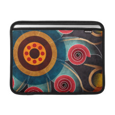 Floral Color Abstract Vector Art Macbook Air Sleeve For Macbook Air at Zazzle