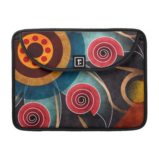 Floral Color Abstract Vector Art Macbook Pro MacBook Pro Sleeves