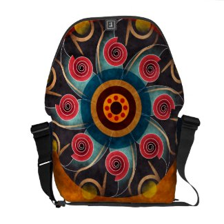 Floral Color Abstract Vector Art Messenger Bag