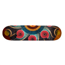 Floral Color Abstract Vector Art Skateboard