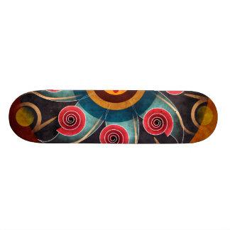 Floral Color Abstract Vector Art Skateboard