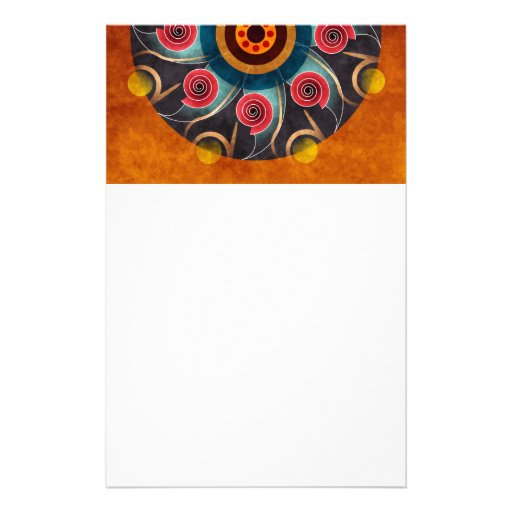 Floral Color Abstract Vector Art Stationery