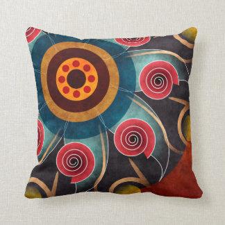 Floral Color Abstract Vector Art Throw Pillow