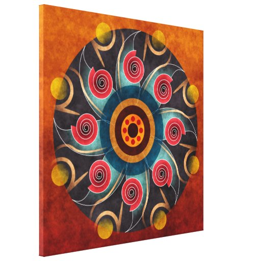 Floral Color Abstract Vector Art Wrapped Canvas Pr Stretched Canvas Print