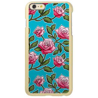 Floral color de rosa - azul del equipo de