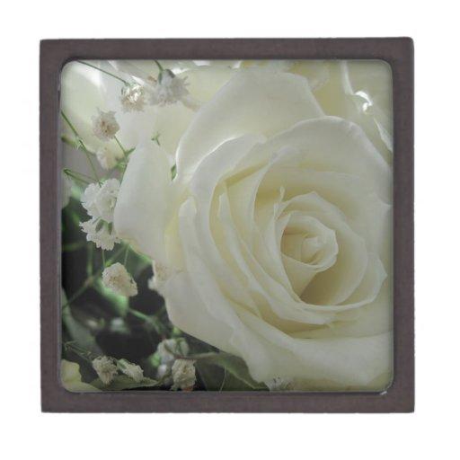Floral color de rosa cajas de recuerdo de calidad