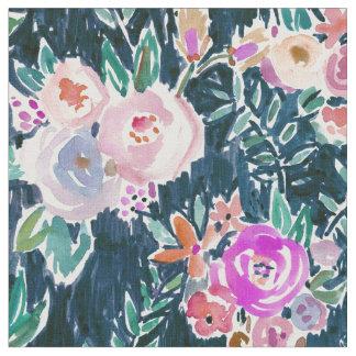 Floral color de rosa oscuro de la profusión de telas