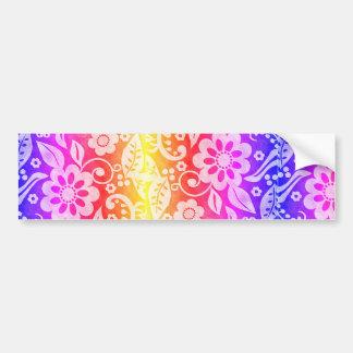 Floral Color Splash Bumper Sticker