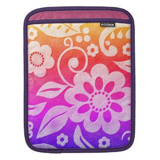 Floral Color Splash iPad Sleeve