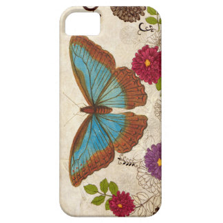 Floral Colored pencil moth/ butterfly iPhone SE/5/5s Case