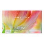 Floral - colores de la tarjeta de visita de la pri