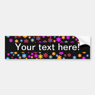 Floral colorful background car bumper sticker