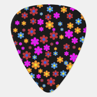 Floral colorful background guitar pick