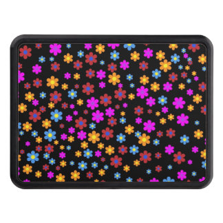Floral colorful background hitch cover