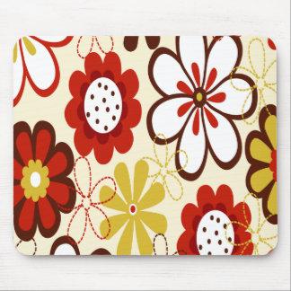 Floral colorido alfombrillas de ratones