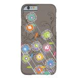Floral colorido caprichoso del jardín de flores ma Case-Mate iPhone 4 protector