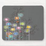 Floral colorido caprichoso del jardín de flores ma alfombrilla de ratón