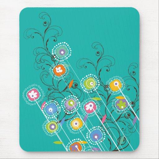 Floral colorido caprichoso del jardín de flores ma tapete de raton