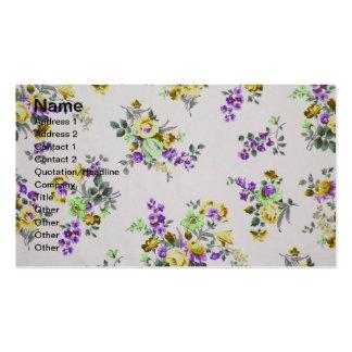 Floral colorido del vintage tarjetas de visita