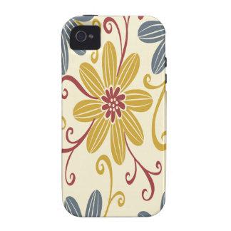 Floral colorido iPhone 4 carcasas