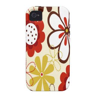 Floral colorido vibe iPhone 4 funda