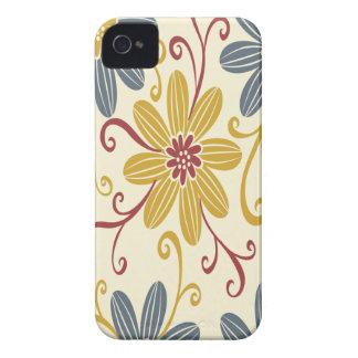 Floral colorido Case-Mate iPhone 4 cárcasas