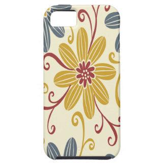 Floral colorido iPhone 5 carcasa