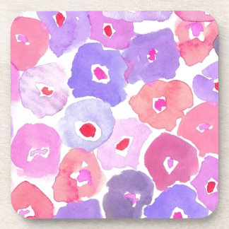 Floral colorido posavasos