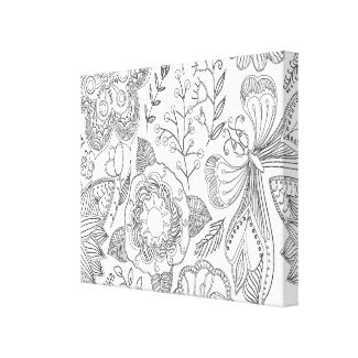 Floral Coloring Canvas Home Decor Wall Art Canvas Print