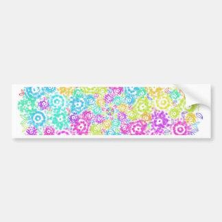 Floral colourful arrangement bumper sticker