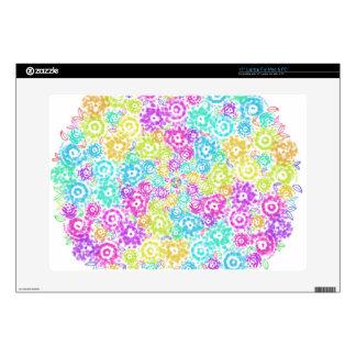 Floral colourful arrangement laptop decal