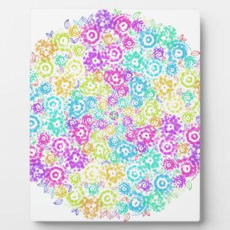 Floral colourful arrangement plaque