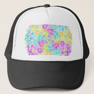Floral colourful arrangement trucker hat