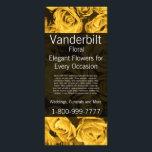 "Floral Company Florist Gold Roses Rack Card<br><div class=""desc"">Business Rack Cards</div>"