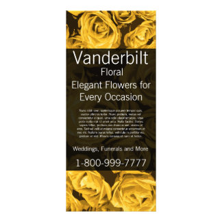 Floral Company Florist Gold Roses Rack Card