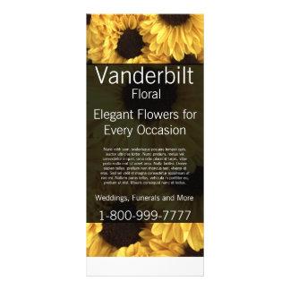 Floral Company Florist Yellow Daisy Rack Card