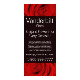 Floral Company FloristrRed Roses Rack Card